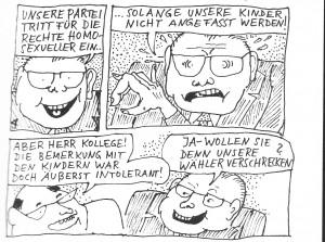 Aus: Hodges/Hutter: Das unerhörte Schweigen der Schwulen, VrW 1977 (M.Müller, Zch)