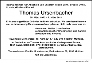 Ursenbacher, Th 2014 Anz